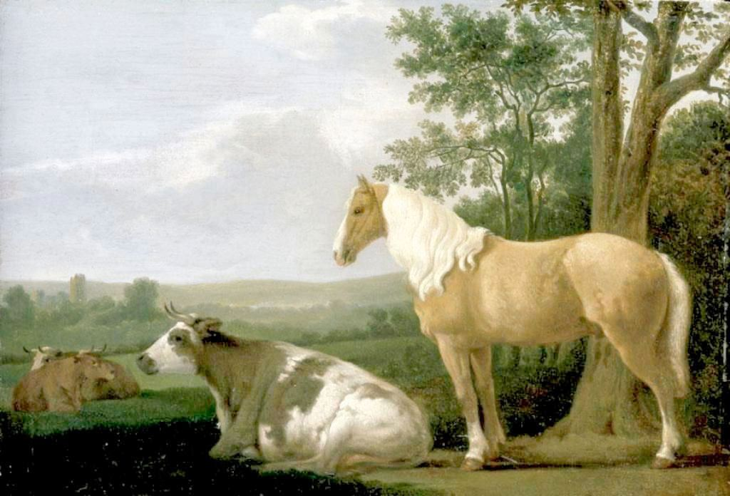 Calreat-A-Horse-and-Cows-in-Landscape