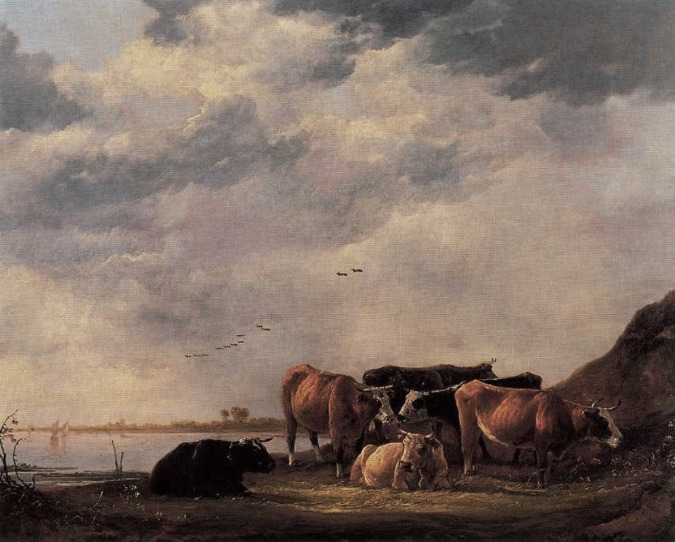 Cuyp-Albert-Bulls-on-Riverbank