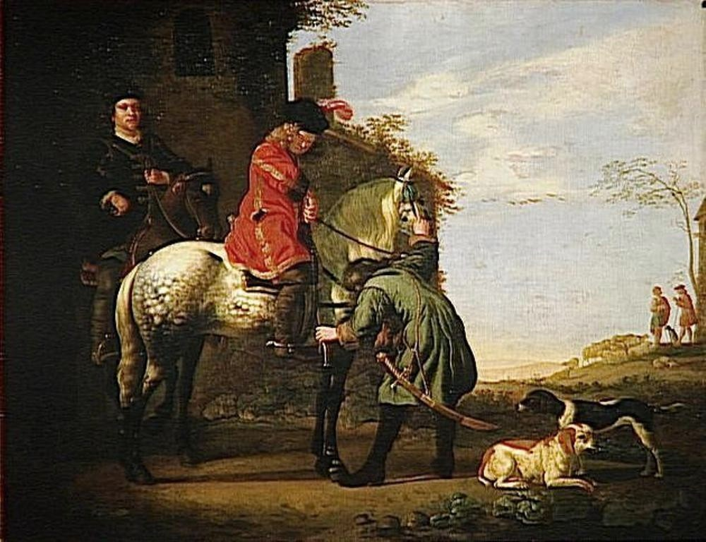Cuyp-Albert-Departure-for-promenade-on-horse