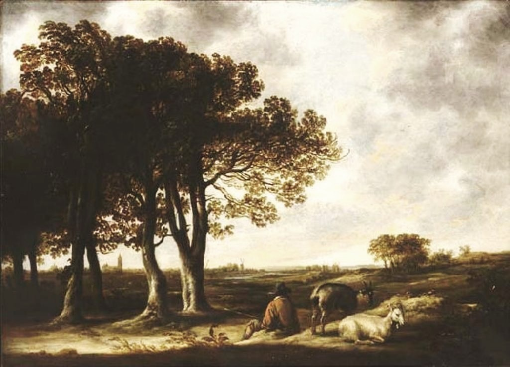 Cuyp-Albert-Goatherd-in-landscape-Distant-View-of-Amsterdam