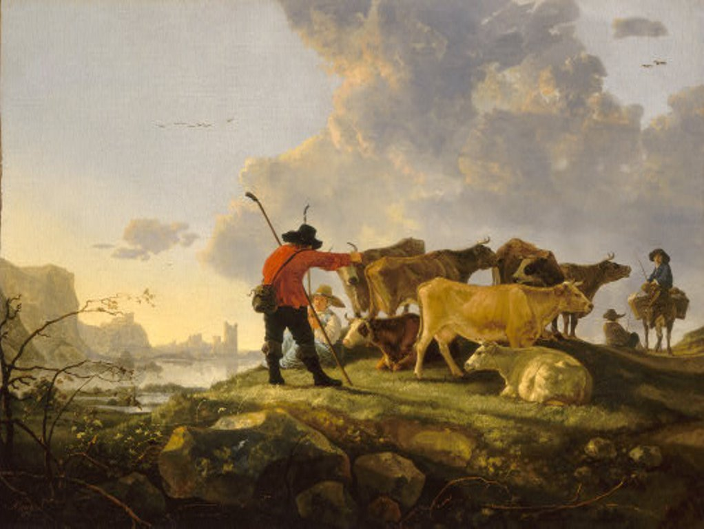 Cuyp-Albert-Herdsmen-Tending-Cattle