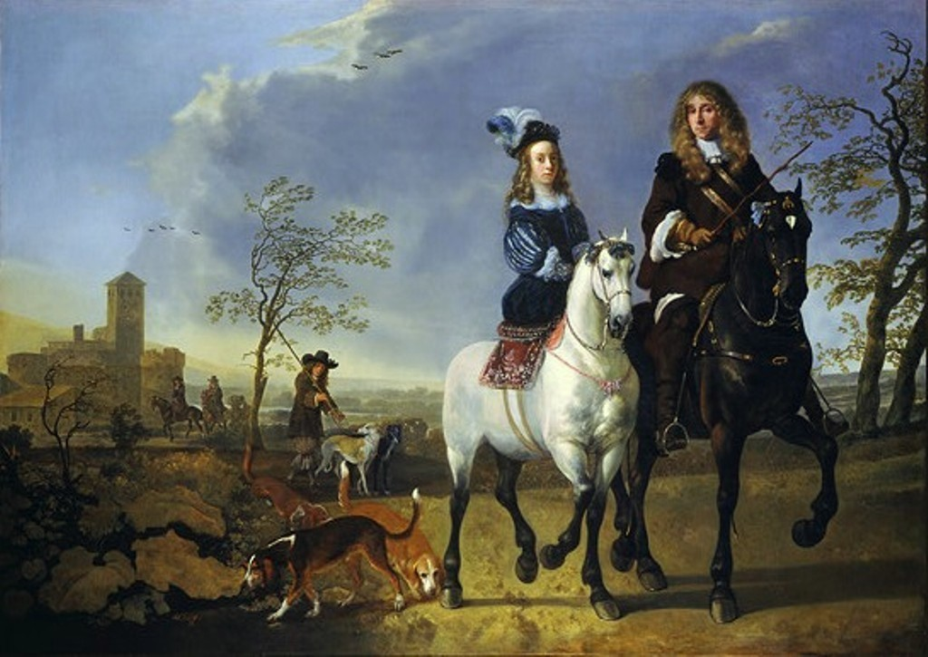 Cuyp-Albert-Lady-and-Gentleman-on-Horseback