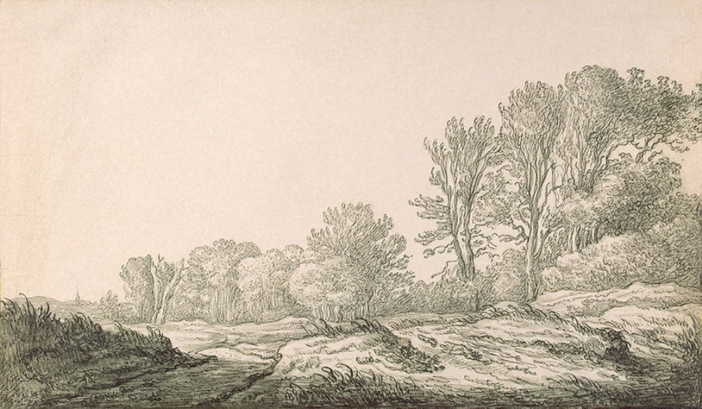 Cuyp-Albert-Landscape-with-Road-on-Edge-of-Forest