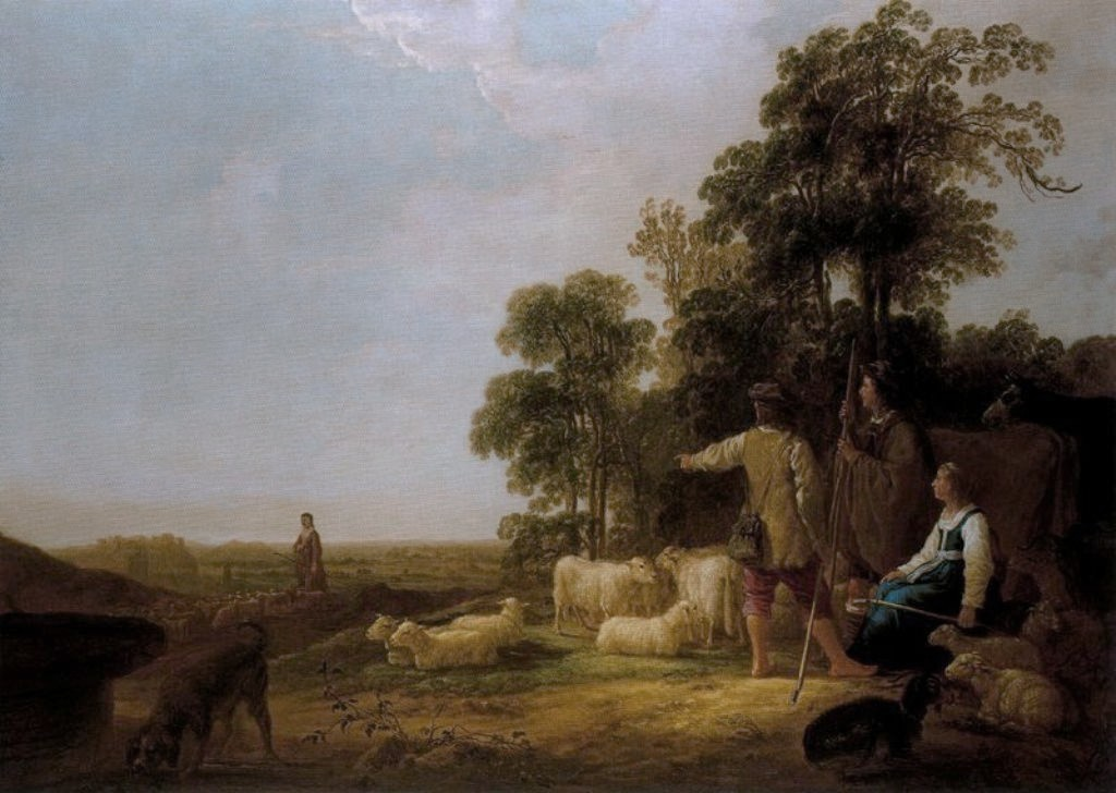 Cuyp-Albert-Landscape-with-Shepherds-and-Shepherdesses