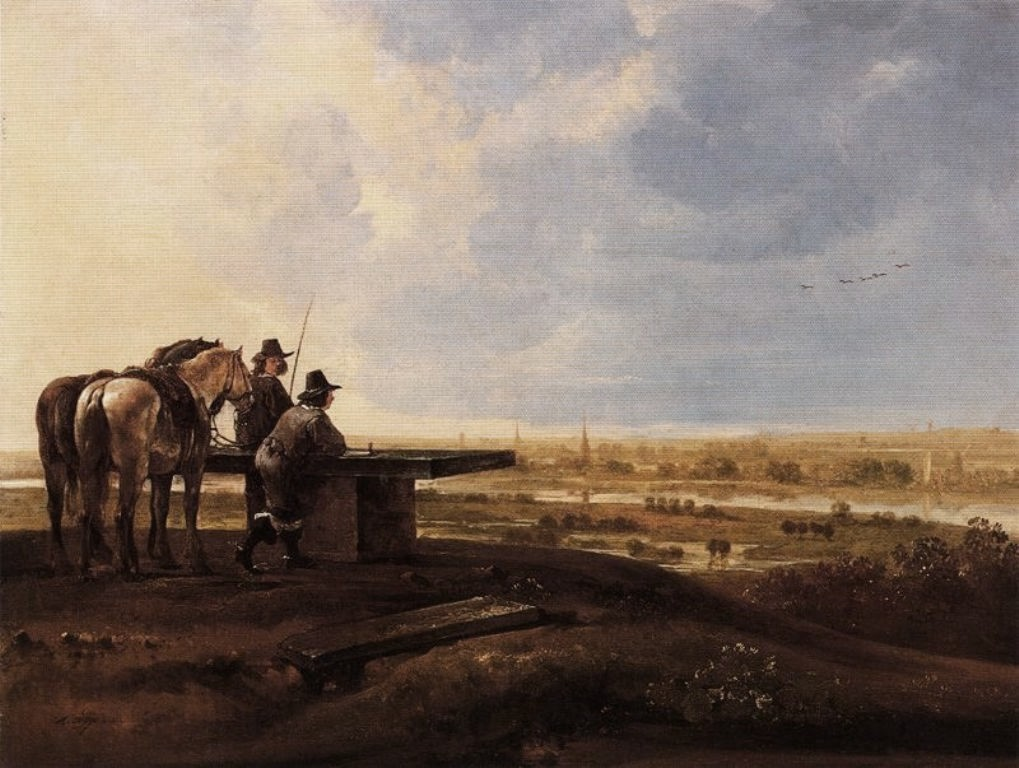 Cuyp-Albert-Two-horsemen-on-ridge