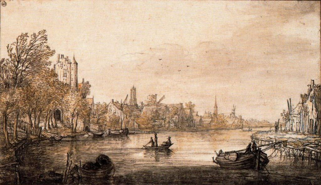 Cuyp-Albert-Utrecht-with-the-Vecht-River-and-Pellekussenpoort