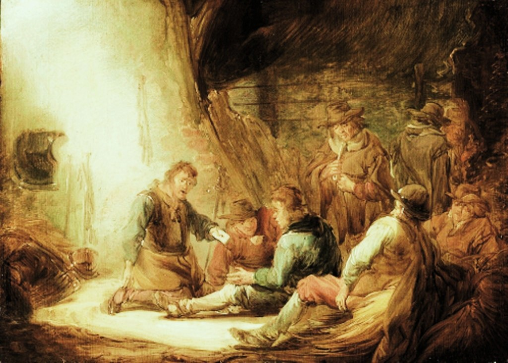 Cuyp-Benjamin-Soldiers-playing-cards-in-grotto