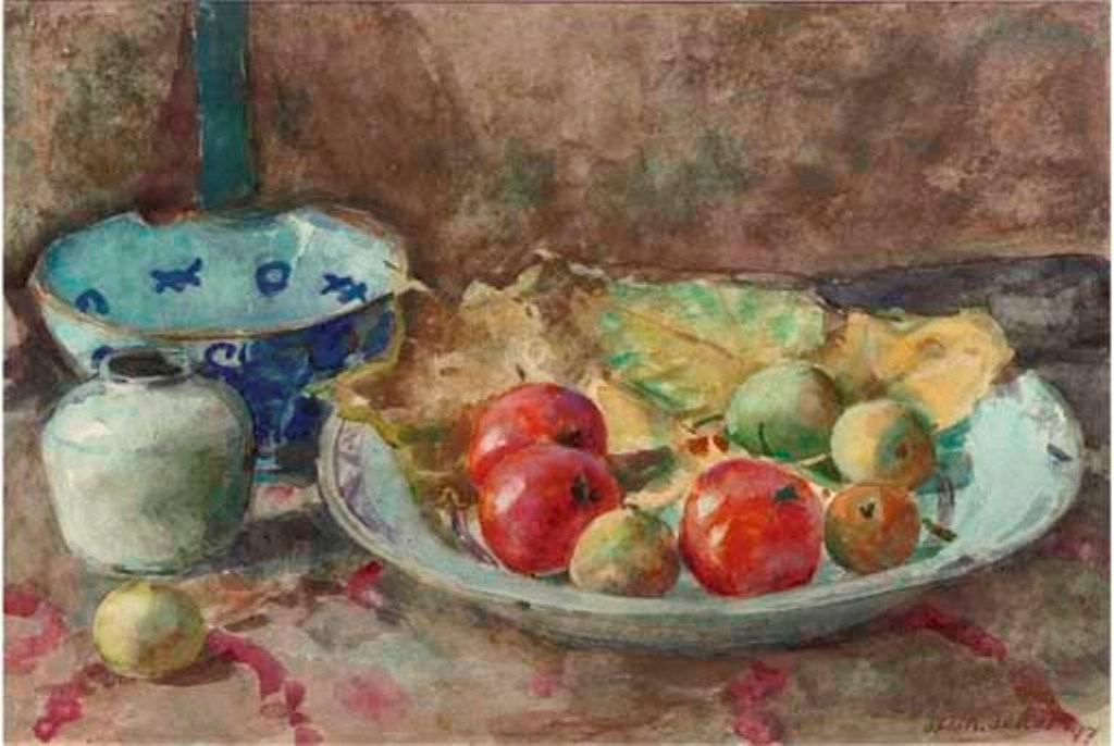 Kat-A-still-life-with-apples-on-a-kitchen-table