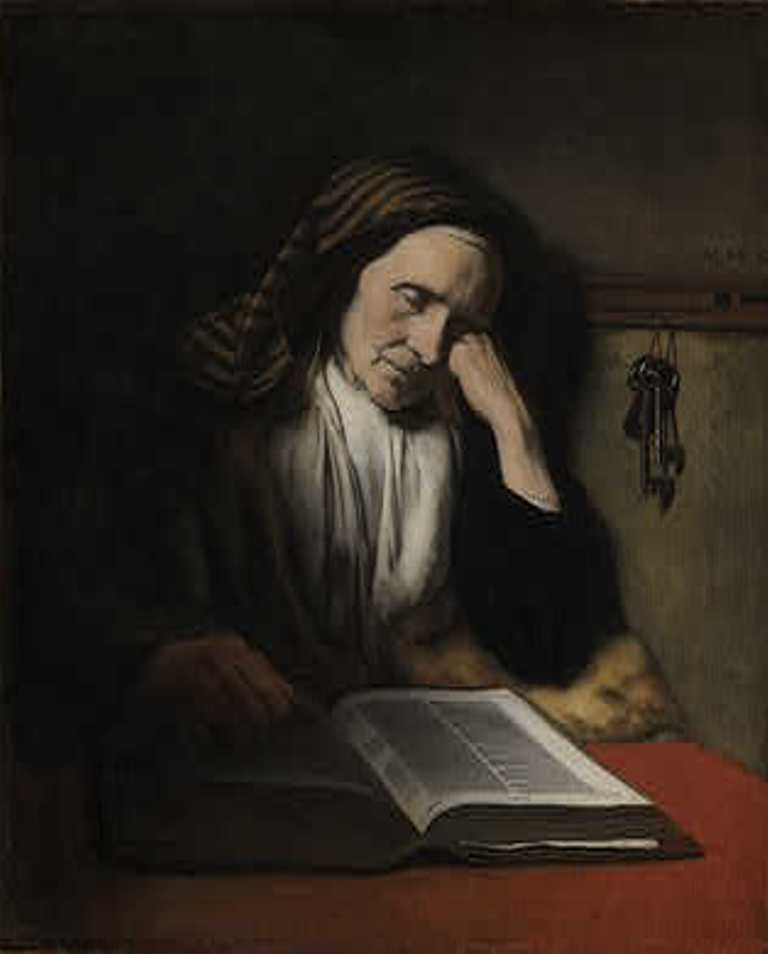 Maes-An-Old-Woman-Dozing-over-a-Book