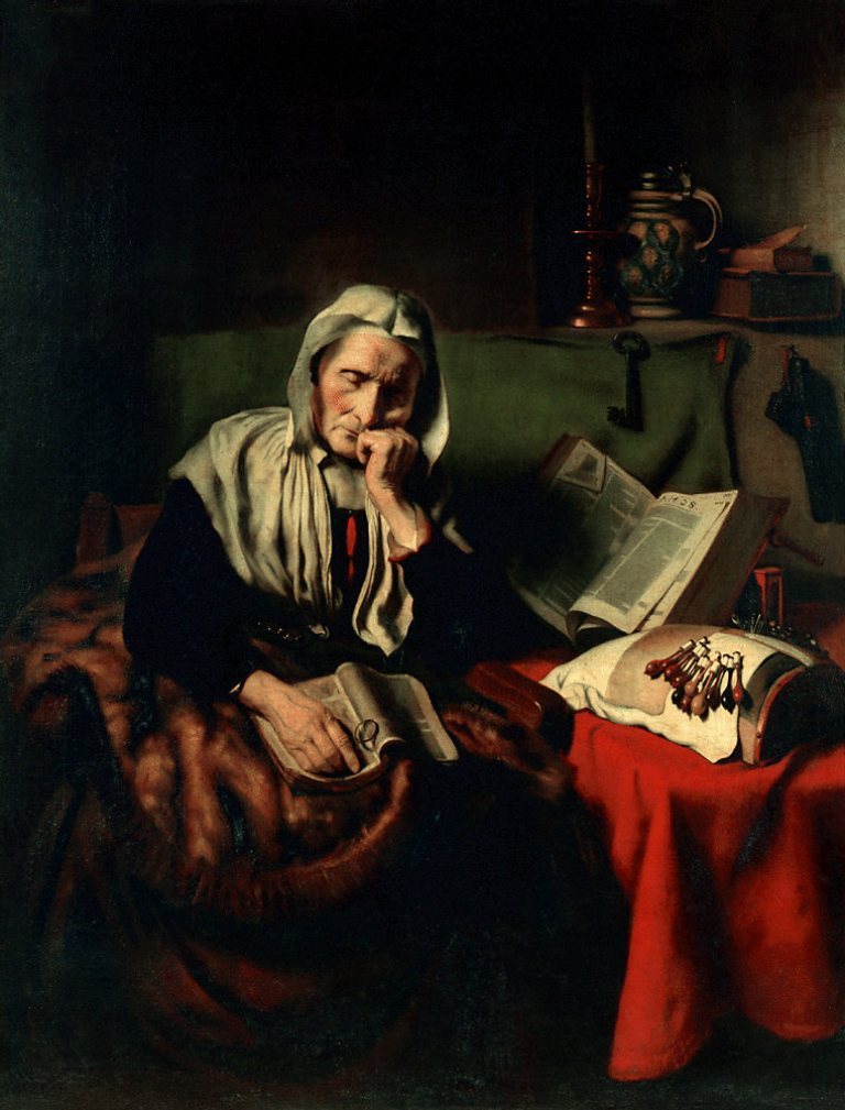 Maes-Old-Woman-Dozing