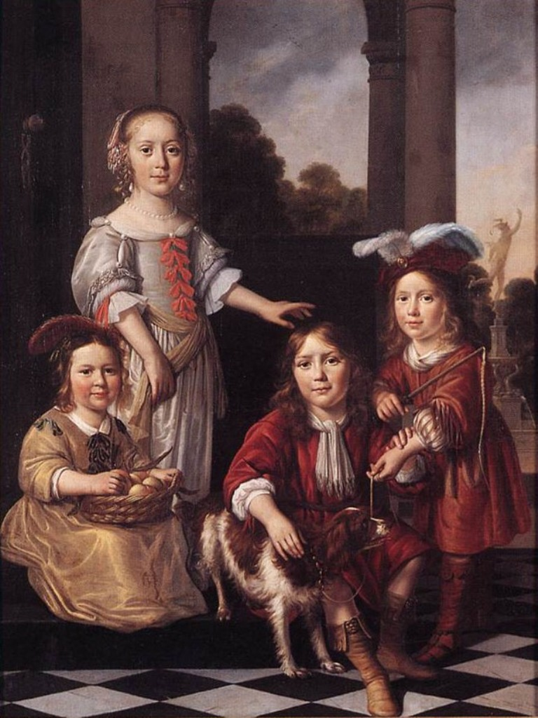 Maes-Portrait-of-Four-Children