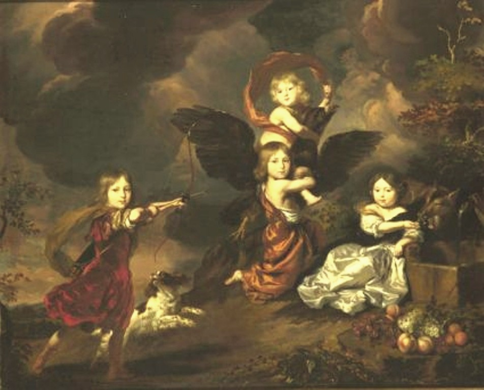 Maes-Portrait-of-four-children-as-mythological-figures