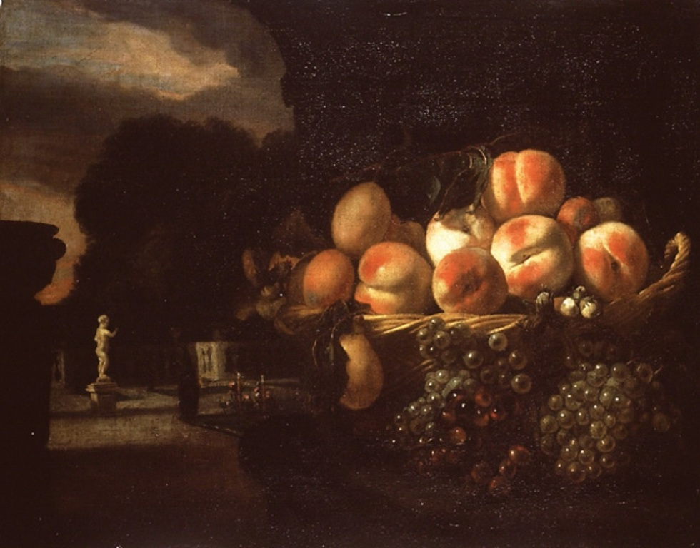 Maes-Stillife-of-Fruit-in-a-formal-Garden