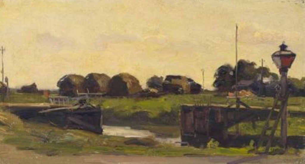 Noltee-Landscape-at-the-spiering-sluice-on-the-island-of-dordrecht