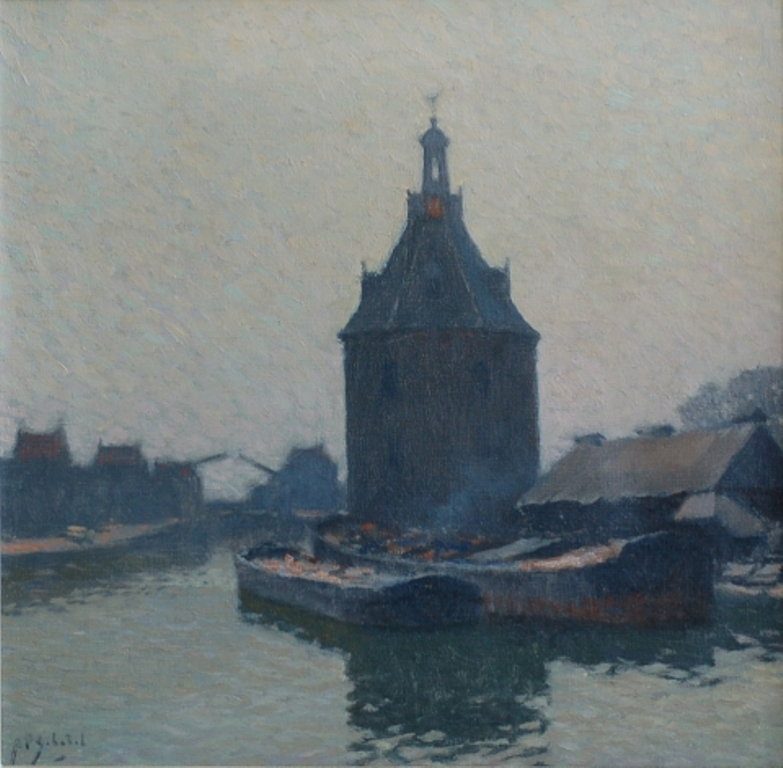 Schotel-Anthonie-Barges-near-the-dromedary-in-Enkhuizen