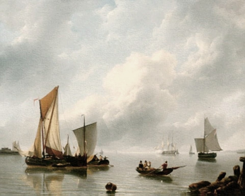 Schotel-Petrus-Serene-estuary-with-Sailboats