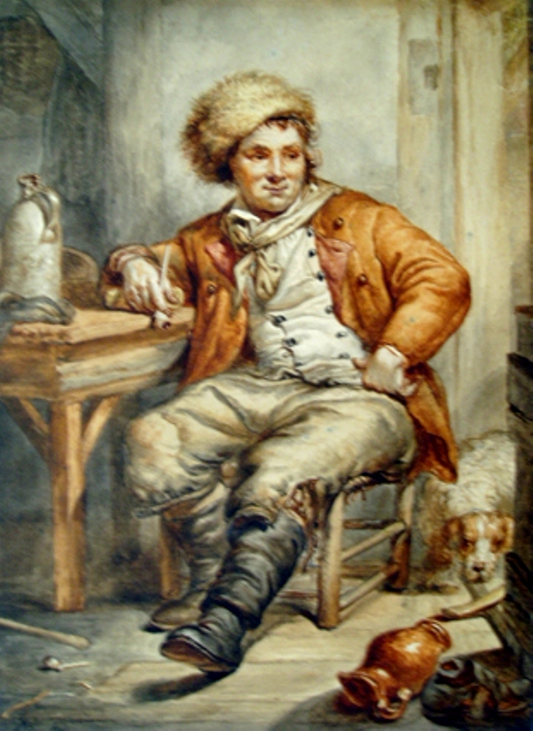 Strij-Abraham-Interior-with-sitting-man-with-fur-cap