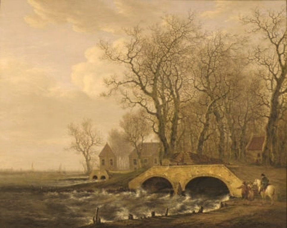 Strij-Jacob-Draining-of-the-water-from-the-in-1809-broken-dikes-in-Alblasserwaard
