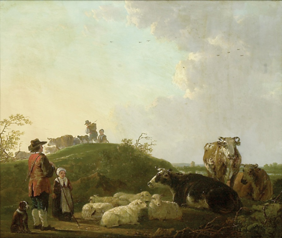 Strij-Jacob-Landscape-with-Figures-Cattle-and-Sheep