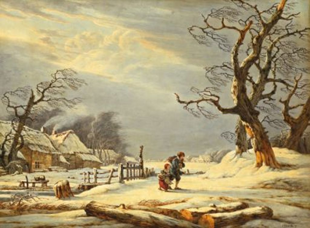 Strij-Jacob-Winterlandscape-with-farmer-houses-and-two-children-on-the-way