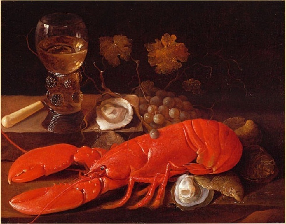 Susenier-A Stillife-with-a-Lobster