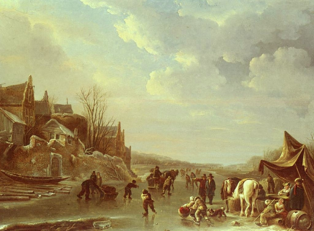 Vermeulen-Andries-A-Winter-Scene-In-Holland