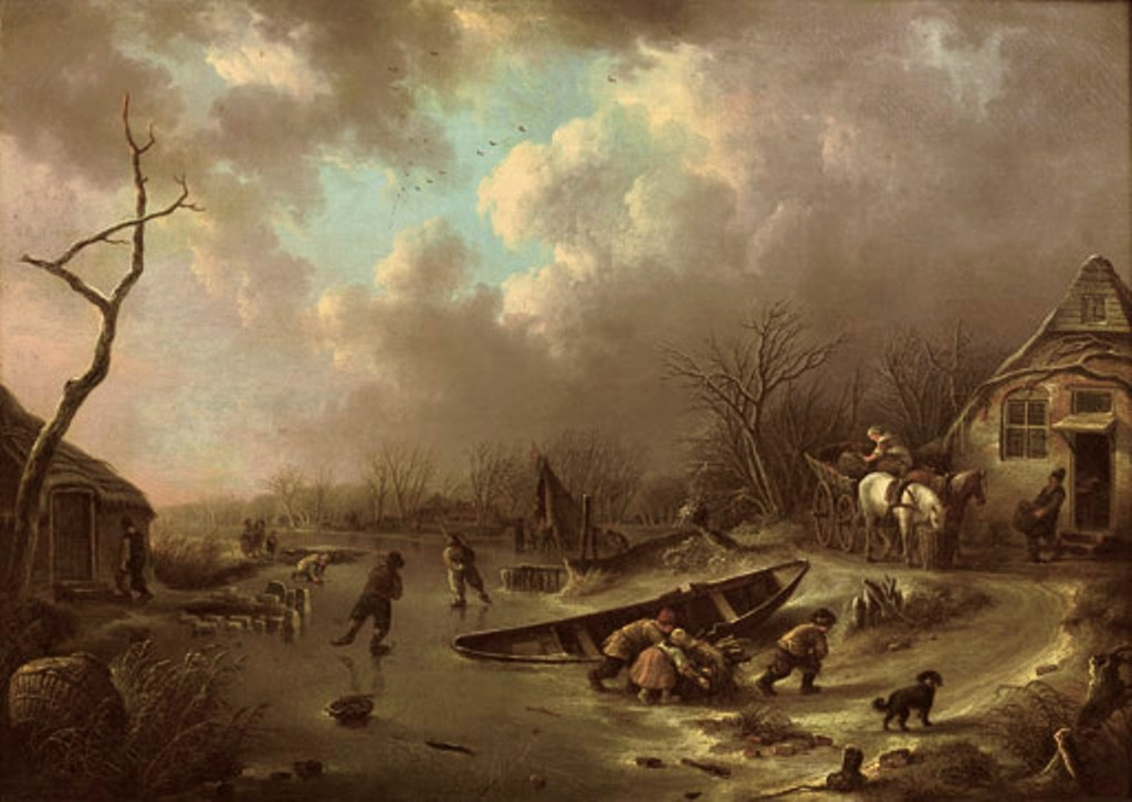 Vermeulen-Andries-A-winter-landscape-with-figures-skating-on-a-frozen-river2