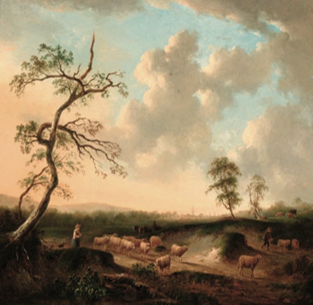 Vermeulen-Andries-Shepherds-with-their-flocks-in-an-extensive-landscape