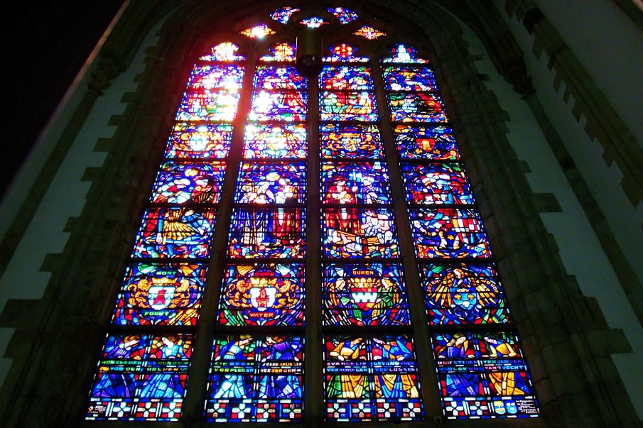 Stained glass window in the Dordrecht Minster