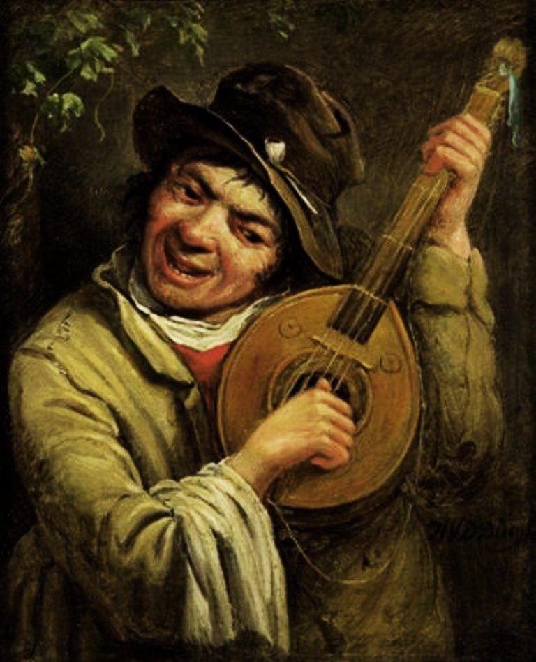 Burg-A lute-player