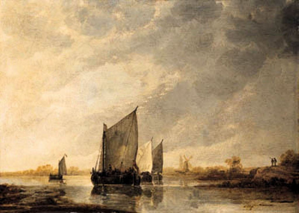 Cuyp-Albert-Barges-close-hauled-in-light-Airs-on-River
