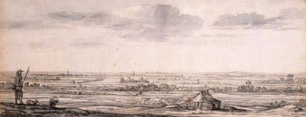 Cuyp-Albert-Dordrecht-Viewed-from-the-North-with-Windmill