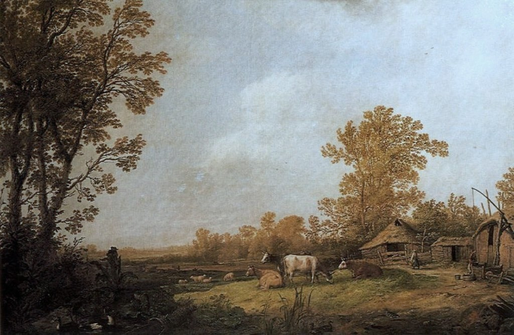 Cuyp-Albert-Farm-with-Cottages-and-Animals