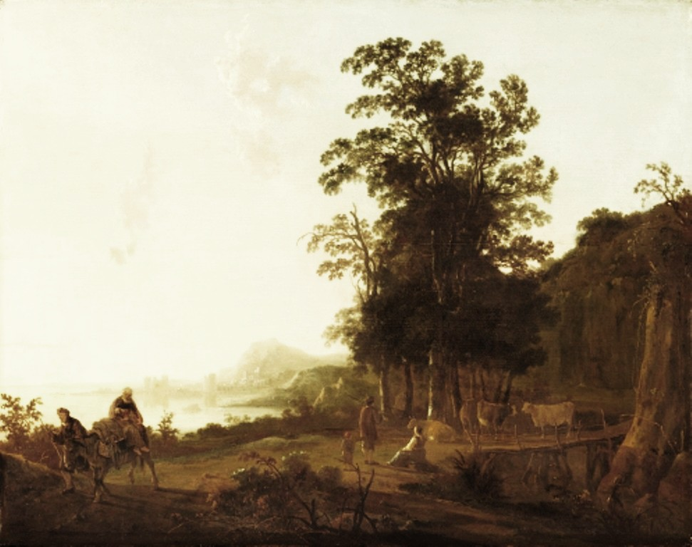 Cuyp-Albert-Landscape-with-Flight-into-Egypt