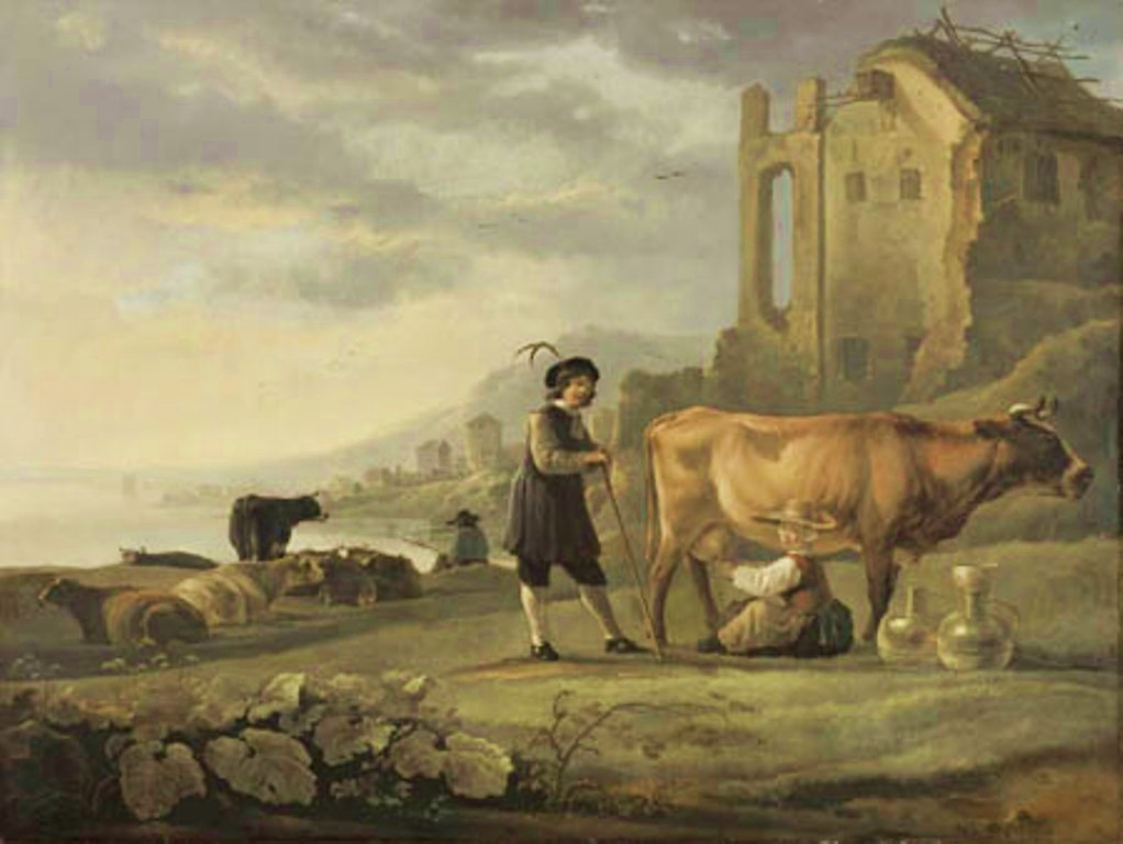 Cuyp-Albert-Landscape-with-Maid-Milking-Cow