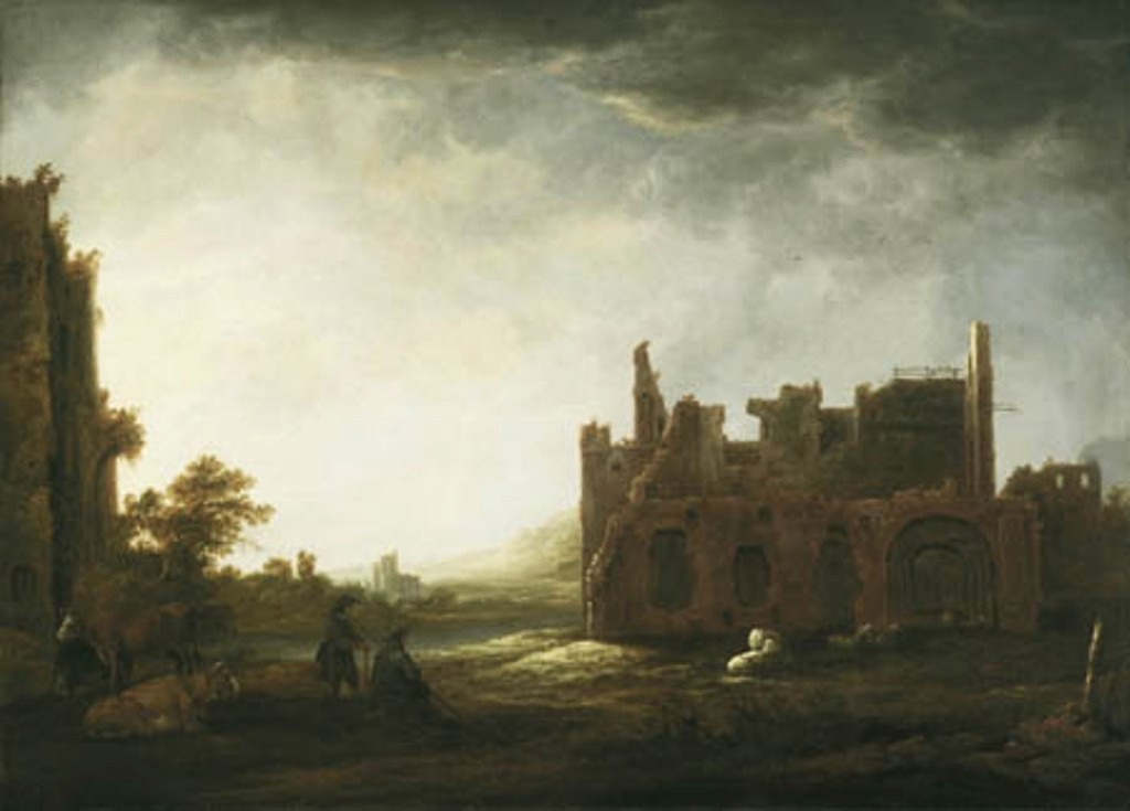 Cuyp-Albert-Landscape-with-Ruins-of-Rijnsburg-Abbey
