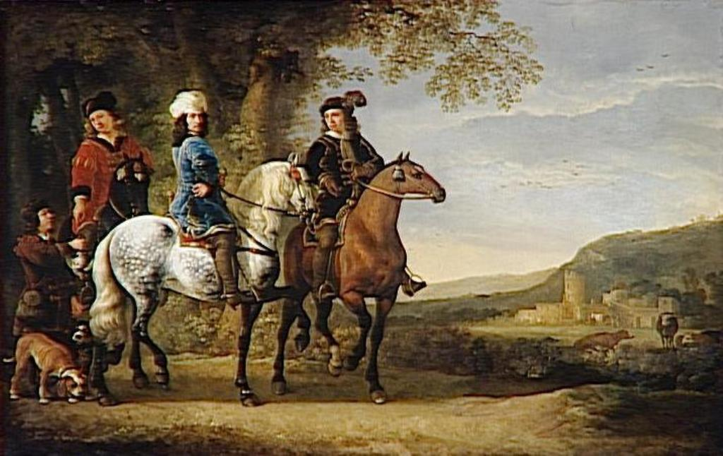 Cuyp-Albert-Landscape-with-three-Caveliers