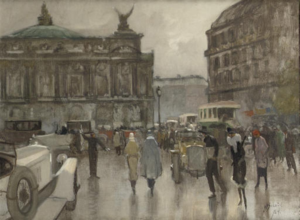 Schotel-Anthonie-Rush-hour-on-the-Place-de-LOpera-Paris
