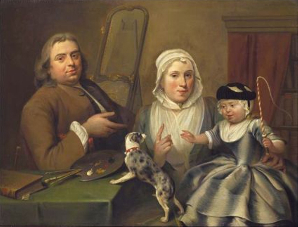 Schouman-Aert-Portrait-of-Albertus-de-jonck-and-his-wife-Maria-Verpoorten-and-son-William