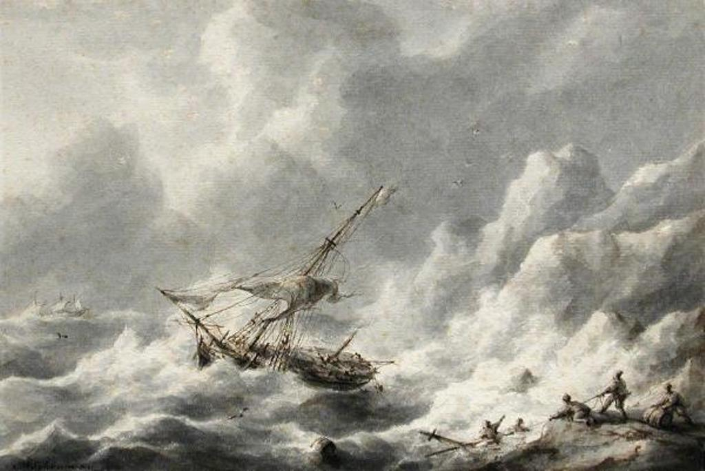 Schouman-Martinus-Shipping-in-a-Stormy-Sea