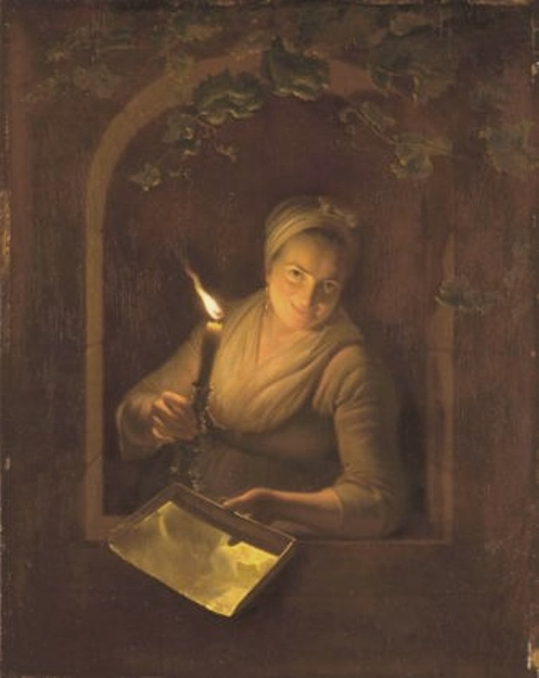 Versteegh-Woman-in-a-niche-by-candlelight